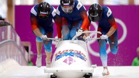 Russian four-man boblsed team