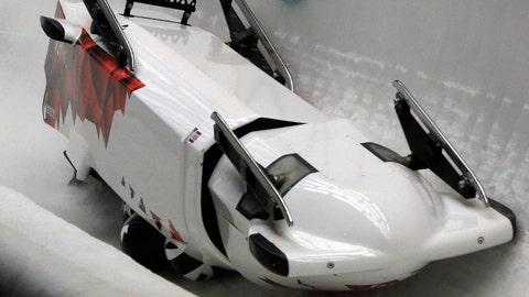 Canadian bobsled crash