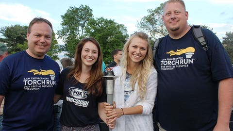 Thanks to the Law Enforcement Torch Run, the official torch made it to Stevens Point to kickoff the 2014 Summer Games.