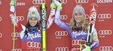 Olympic champion Shiffrin, Fenninger share win in World Cup GS