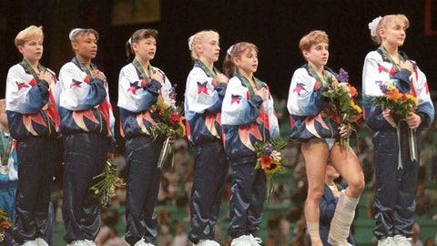 Kerri Strug at the 1996 Olympics