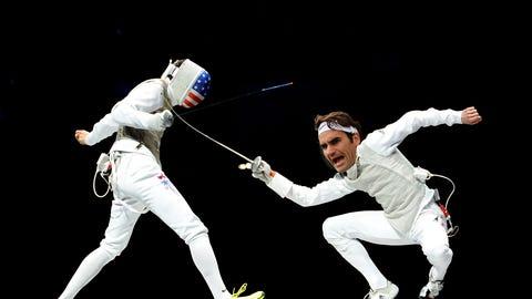 Roger Federer - Fencing