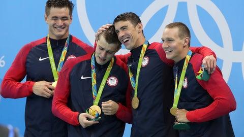 Nathan Adrian, Ryan Held, Michael Phelps, Caeleb Dressel - 4x100-meter freestyle relay