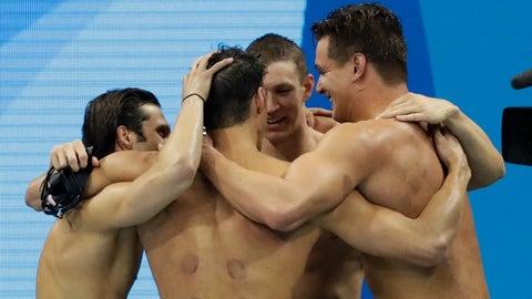 Cody Miller, Michael Phelps, Ryan Murphy, Nathan Adrian - men's 4 x 100m medley relay