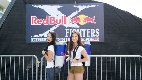 Red Bull gives you wings. And backpacks that look like cans.