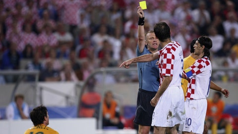 One player, three yellow cards