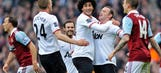 Rooney's double gives Manchester United comfy win at West Ham