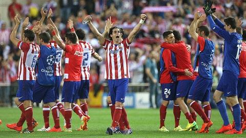 Atletico Madrid (Last week: Fourth)