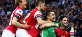 Arsenal saves face with FA Cup semifinal victory over Wigan in PKs