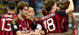 Montolivo fires AC Milan back to Serie A's top half, edges 10-man Catania