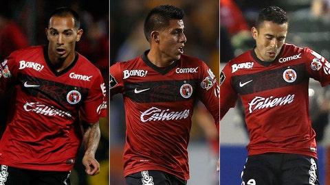 Edgar Castillo, Joe Corona and Herculez Gomez, Club Tijuana