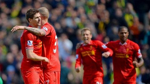 Liverpool (Last week: Fourth)