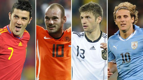 2010: Four players, four countries, 5 goals