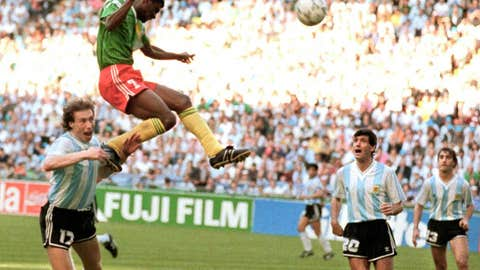 1990: Cameroon stuns Argentina in the opener