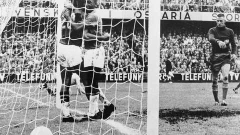 1958: Pelé leads Brazil to glory in Sweden