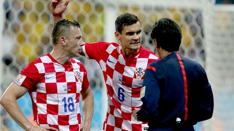 … and the Croatians are rightly infuriated about the refereeing