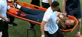Gary Lewin, England's physio, dislocates ankle celebrating goal