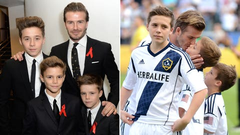 David and Brooklyn Beckham (England)