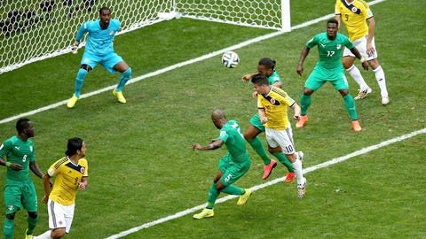 Colombia dances its way past Côte d'Ivoire