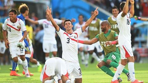 Costa Rica shocks Italy to book round of 16 berth