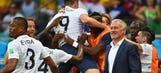 Five-star France 'not relaxing yet', says coach Deschamps