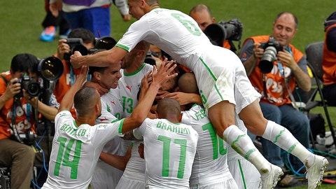 Algeria romps over Korea Republic