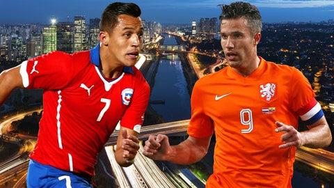 Chile, Netherlands battle to avoid Brazil