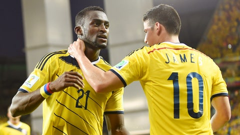 Colombia completes trifecta with victory over Japan