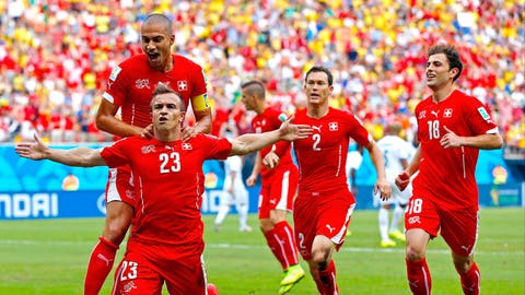 Shaqiri shines as Switzerland books round of 16 date