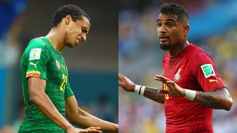 Ghana and Cameroon (duds)