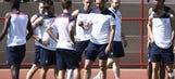 Deschamps fears his France players won't cope with sweltering heat