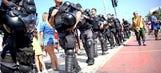 Bomb squad detonates suspicious bag near World Cup stadium