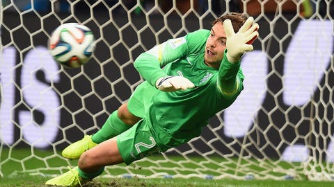 Super-sub Tim Krul comes on for penalty shootout (July 5)
