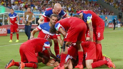 Team USA exorcise demons against Ghana June 16)