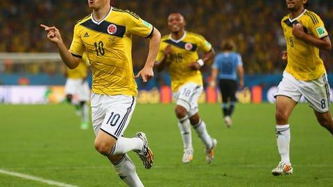 James Rodriguez scores golazo against Uruguay (June 28)