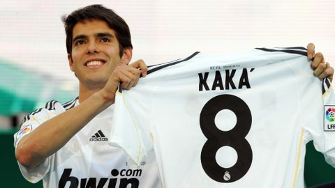 Kaka (£56 million/$100 million, AC Milan to Real Madrid, 2009)