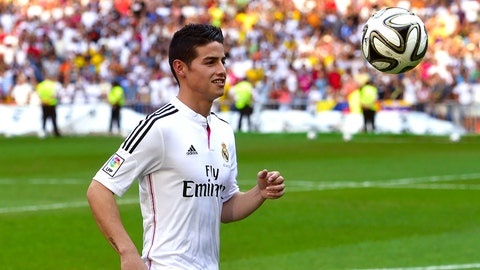 James Rodriguez (£63 million/$107 million, Monaco to Real Madrid, 2014)