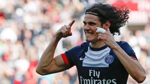 Edinson Cavani (£55 million/$94 million, Napoli to PSG, 2013)