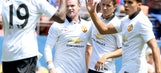 Rooney's double enough as Manchester United tops Roma