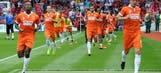 Blackpool actually manage to field 11 players in season opener
