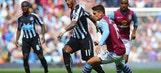Aston Villa held to draw by ten-man Newcastle at Villa Park