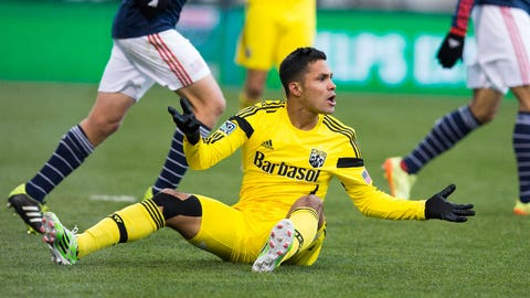 Columbus Crew – down 4-2 on aggregate to New England – second leg: at New England on Sunday