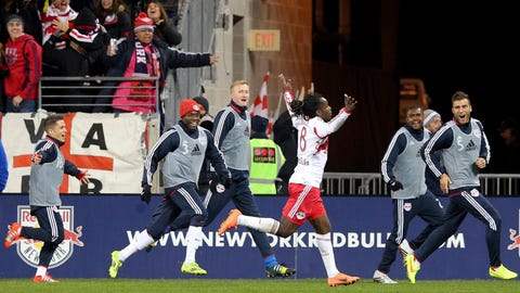 New York Red Bulls – lead 2-0 on aggregate over D.C. United – second leg: at D.C. United on Saturday