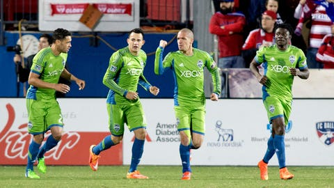 Seattle Sounders – tied 1-1 on aggregate with FC Dallas – second leg: v. FC Dallas on Monday