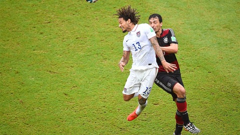 Jermaine Jones prepares for a more rigorous test at center back