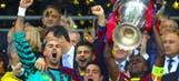 Clubs unite to hail retiring former Barcelona defender Abidal