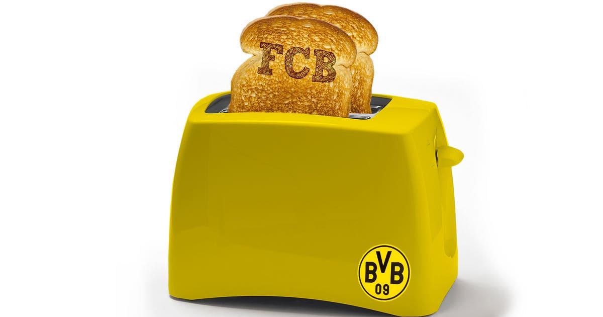 Worst Christmas Gift Ever Dortmund Fan Gets Club Toaster