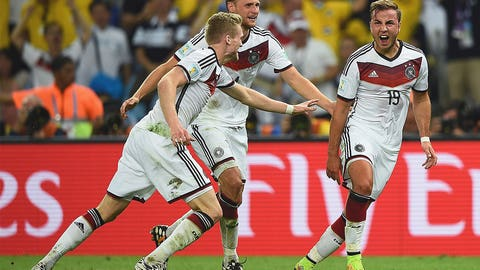 Germany win the 2014 World Cup over Argentina