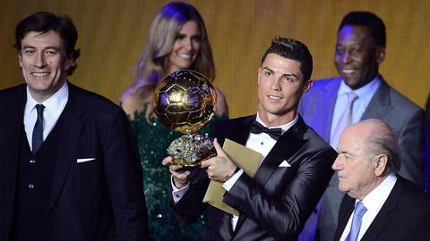 Cristiano Ronaldo picks up FIFA Ballon d'Or, silences critics