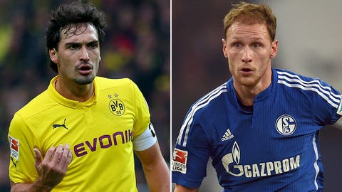 Mats Hummels and Benedikt Howedes